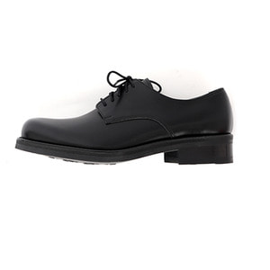 Rubber sole derby shoes (black)
