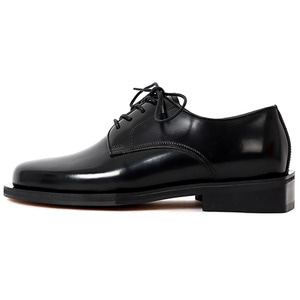 Square derby shoes (black)